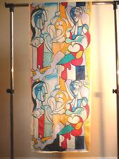 Crepe de chine long silk scarf Print of Picasso Sculptor Multicoloured   NEW