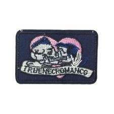 True Skeleton Romance Love (Iron On) Embroidery Applique Patch Sew Iron Badge