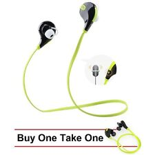 QCY Buy-1-Take-1 QY7 Sweat-Proof Sporty Bluetooth Headset (Black/Green)
