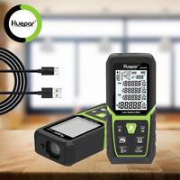 Huepar Laser Distance Range Finder Measure Tool 330Ft/100M with Li-ion Battery