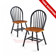 Set of 2 Wood Dining Chairs Home Kitchen Seating Breakfast Bar Room Furniture