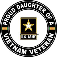 "Proud Daughter of a US Army Vietnam Veteran 5.5"" Sticker 'Officially Licensed'"