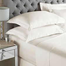 400 Thread Count Egyptian Quality Sateen Single Bed Fitted Sheet in Ivory