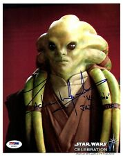 "ZACHARIAH JENSEN Signed ""Kit Fisto"" STAR WARS OFFICIAL PIX 8x10 Photo PSA/DNA"