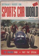 Sports Car World 1958 Feb MGA Carroll Shelby Sunbeam Maico Panhard Tornado Lotus