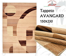 Tappeto Moderno Avangard 150x230 100% Lana Beige Brown Astratto