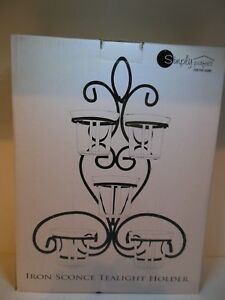Simply Perfect Iron Sconce 5 Tealight Holder Wall Mount New In Box