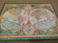 MB 3000 Discovery World Map Jigsaw Puzzle New And Sealed
