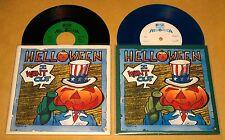 """HELLOWEEN I WANT OUT 2x 7"""" SINGLE Lot BLUE VINYL & BLACK VINYL w/POSTER LTD 1988"""