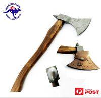 "1095 Damascus Steel Custom Handmade 22"" Axe Tomahawk - Rose Wood Handle A37"