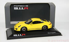 PORSCHE 991 911r racinggelb black rims 1:43 RARO