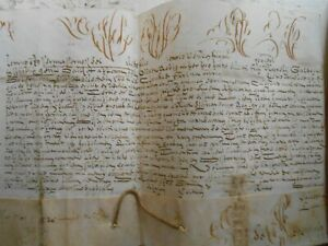 Genuine Pope CLEMENTE XI Papal bulla on vellum dated Rome, 1712