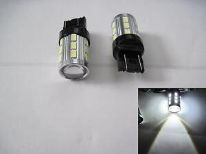 2 pcs 7440 7443 15W Samsung 5630 LED + CREE High Power LED White Projector Len