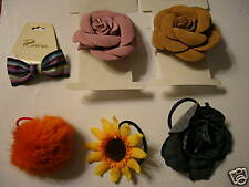 Lot of 6 NWT & NWOT Womens Flower Hair Accessories