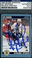 RAY BOURQUE SIGNED PSA/DNA 1991 SCORE CERTIFIED AUTOGRAPH AUTHENTIC