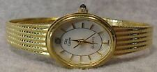 Vintage Oleg Cassini Ladies Quartz Goldtone Wristwatch