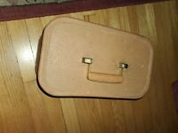 Vintage Starline Carry On Train Case Bag Hard Sided Luggage 1950s tan