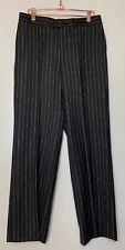 YVES SAINT LAURENT Rive Gauche Dress Pants Men's Size 48 FR Charcoal Gray Stripe