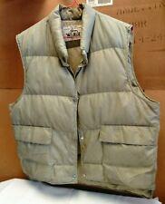 Vintage Men's Woolrich Goose Down Puffy Snap Vest Light Green Jacket Size L?