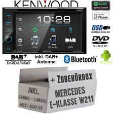Kenwood Radio Mercedes W211 Bluetooth DAB+ Digital Antenne Spotify USB Einbauset
