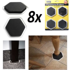 8 Furniture Sliders Move Glides Heavy Appliance Floor Protector from Scratches