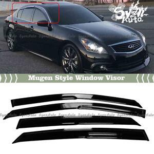 FITS 2007-2015 INFINITI G35 G37 G25 SEDAN JDM 3D MUGEN STYLE WINDOW VISOR VENT