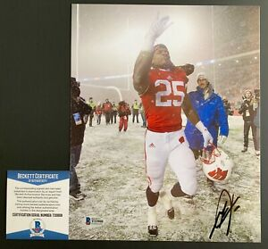 Melvin Gordon Wisconsin Badgers Autographed 8x10 Photo Signed Football Beckett