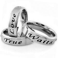 Stainless Steel TRUE LOVE WAITS Promise Church Purity Love Sizes 5-14 Ring