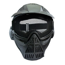 1X Mask Full Face CS Game Archery Outdoor Airsoft Paintball Mesh Goggles Black