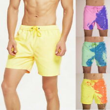 Men Swimming Shorts Color Changing Swim Trunks Swimwear Bathing Beach Party Acc