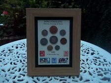 54th Birthday,1966, 8 coin and Stamps Framed set, Unique Gift