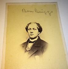 Rare Antique Handsome Victorian American ID'd Young Man! Ben Briggs! CDV Photo!