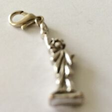 SILVER STATUE OF LIBERTY CLIP ON CHARM FOR BRACELETS -TIBETAN SILVER - NEW