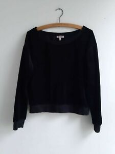 Juicy Couture Black Velour Sweater, size S