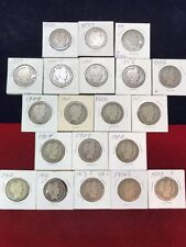 Barber Half Dollars 20 Different Dates
