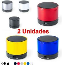 2 Unidades Altavoz Bluetooth 3W SD FM Micro USB,manos libres,iOS,android,bateria