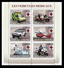 Comores MNH SS, Transport, Ambulance, Red Cross, Helicopter, Ships -R16