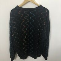 Tundra Vtg Men XL Sweater Colorful Cotton Blend 90's Biggie Hip Hop Ski