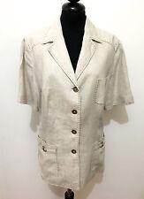 LUISA SPAGNOLI Giacca Donna Lino Woman Sahariana Flax Linen Jacket Sz.L - 46