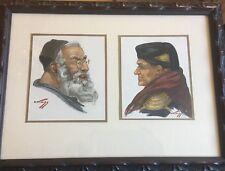 Hans Kleiss (1901-1973) Moroccan Men Original Watercolor painting