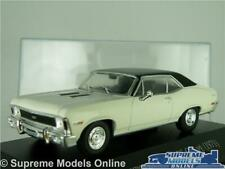 CHEVROLET SS COUPE MODEL CAR 1971 WHITE MUSCLE 1:43 SCALE IXO + DISPLAY CASE K8