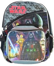 """STAR WARS DARTH VADER 16"""" Full-Size Backpack w/Attached Insulated Lunch Tote Box"""