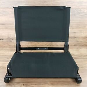 """The Stadium Chair - Black Color - Heavy Duty 18"""" Wide Deluxe Sport"""