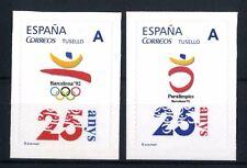 2 Sellos personalizados 25 Años Olimpiadas Barcelona 1992  olympics games stamps