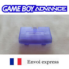 Cache pile Clear Violet Game Boy Advance neuf [Battery cover Gameboy GBA] Purple