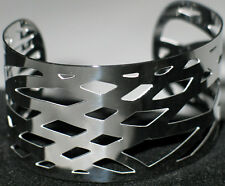 100 Solid Wire Stainless Steel Polished Flat 12x2m Silver Cuff Bangle Bracelet