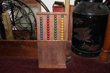 Antique John C Winston Philadelphia Toy Wood Abacus-Country Decor-Adding Tool