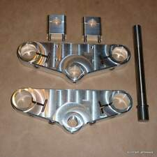 Triumph T140 750 Triple Clamp SET Billet Aluminum CNC ahrma racing custom USA