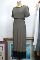 Vintage 90s Carole Little Empire Waist Boho Grunge Maxi Dress Size 6 S/M USA