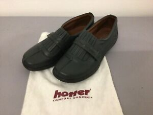 BN Hotter shoes ladies size 6.5 UK 39.5 dark olive strap pleated  #5037